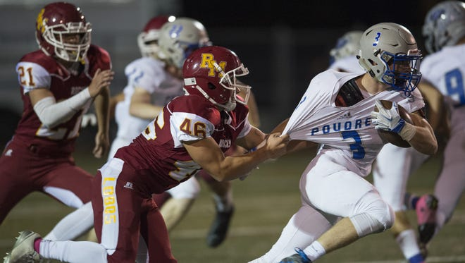 The Rocky Mountain and Poudre football teams no longer share a conference.