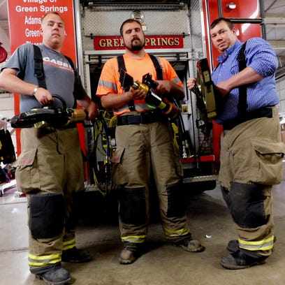 Green Springs volunteer firefighters, left to right,