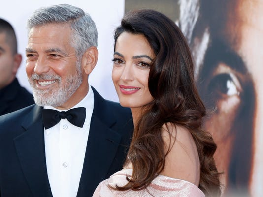 Amal Clooney gives romantic toast to teary George in Hollywood