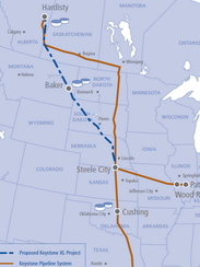 The proposed Keystone XL Pipeline would stretch from