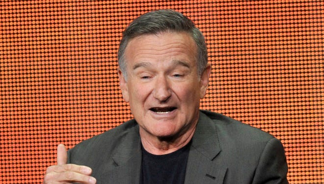 """Robin Williams participates in """"The Crazy Ones"""" panel at the CBS Summer TCA on Monday, July 29, 2013, at the Beverly Hilton hotel in Beverly Hills, Calif."""