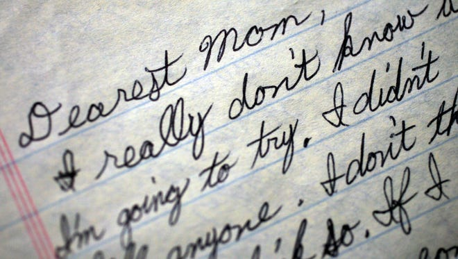 Letter from a death row inmate in Tennessee to his mother, dated April 2007.