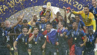 France celebrates its World Cup title.
