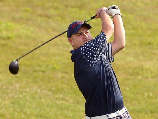 Jonathan Kleczynski of Garwood drives from the first