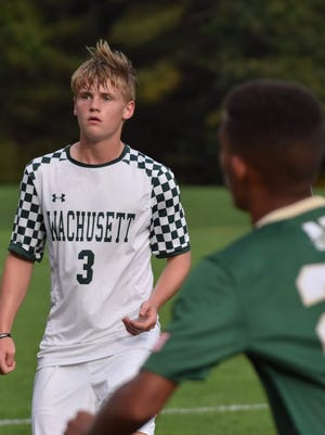 Wachusett Regional High School's Gabriel Vernon in play.