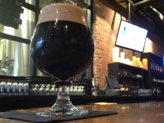 Sir Moch-A-Lot, a seasonal beer made my Exile, is created using cocao from Chocolaterie Stam.