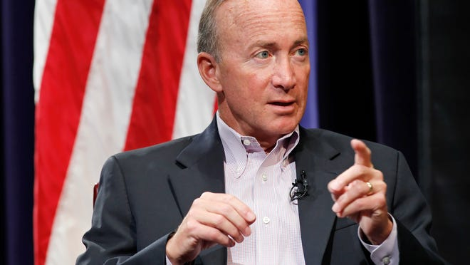 Purdue President Mitch Daniels' says he hears talk from his former campaign manager about another run for governor. But Daniels insists he's busy at Purdue.