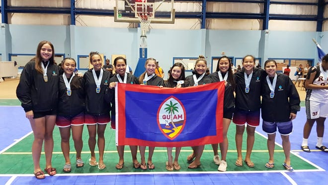 Guam's women basketball team takes the gold at the Micronesian Games in Yap.