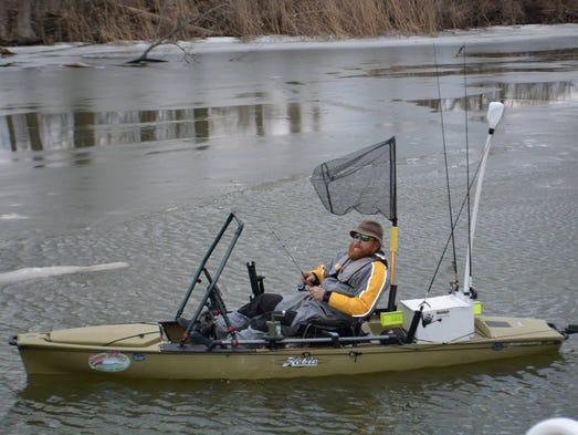 Kayak fishing big thrills on a small budget for Fishing kayak for big guys
