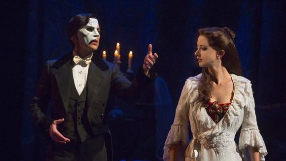 """Music of the Night"" Chris Mann as The Phantom and Katie Travis as Christine Daaé."