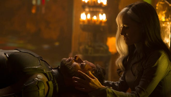 "Hugh Jackman and Anna Paquin in a scene from the Rogue Cut of ""X-Men: Days of Future Past"""