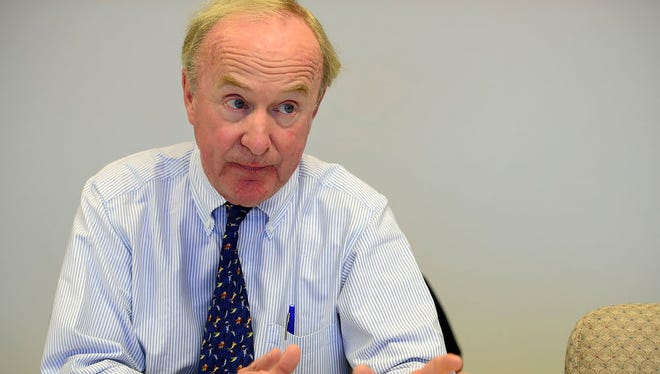 Rep. Rodney Frelinghuysen at a meeting with The Record's editorial board in October.
