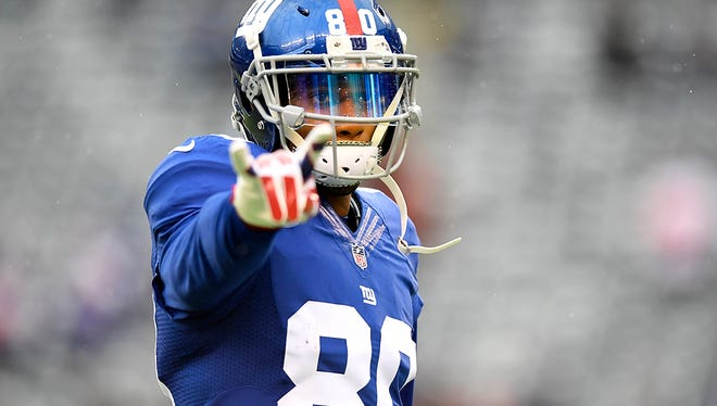 Giants wide receiver Victor Cruz before facing the Lions on Sunday.
