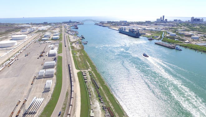 Port of Corpus Christi officials say the volume of commodities that have sailed through the port's waters this year is on pace to exceed that of 2015, a record year.