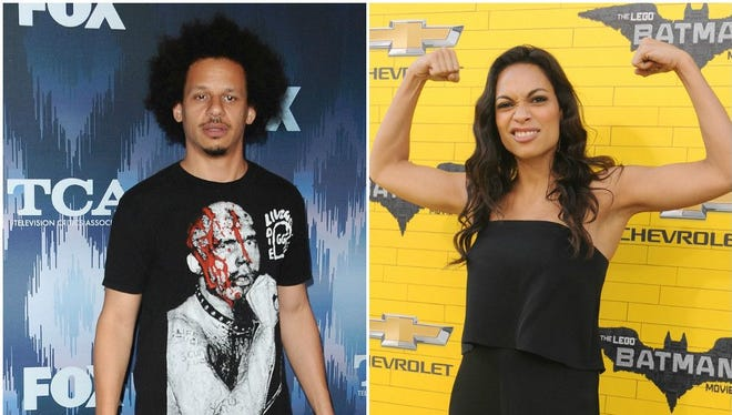 Kissing photos of Eric Andre and Rosario Dawson aren't enough to convince some fans that the comedian and actress are dating.