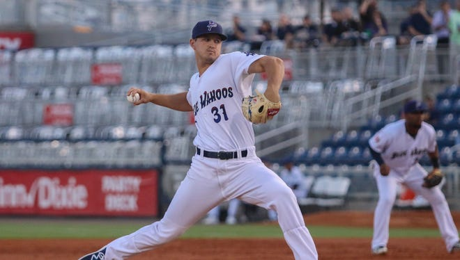 Tyler Mahle has been one of the big reasons why the Blue Wahoos have the second-lowest team pitching earned run average in the three highest levels of minor league baseball.