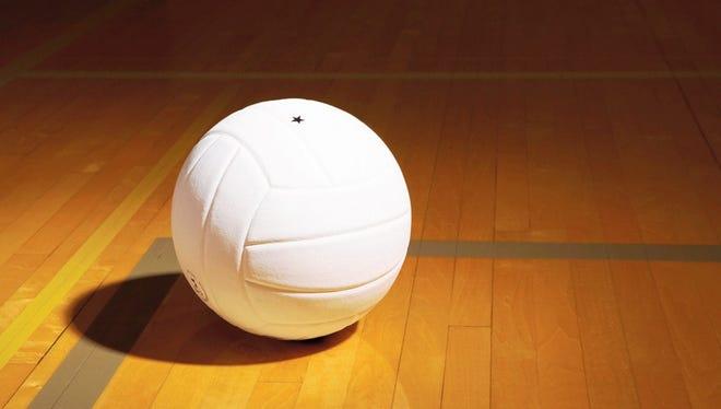 High school girls volleyball.