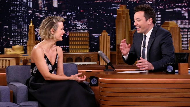 Candid interviewee Sarah Paulson appeared on 'The Tonight Show Starring Jimmy Fallon' Tuesday.