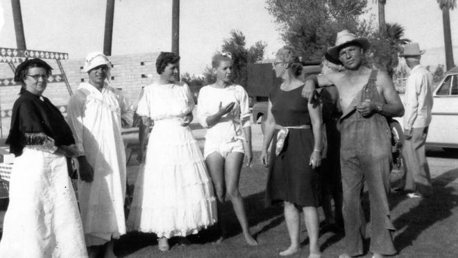 The McKinney Family at the Founders' Day Picnic held at Tamarisk Park, circa 1955.