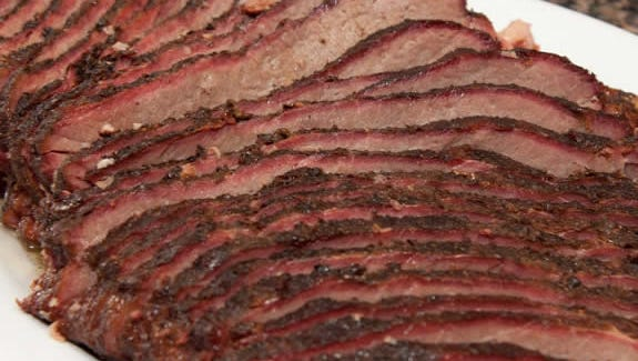 Smok'n Hogs BBQ will feature brisket, as well as other items like pulled pork sandwiches, when it opens in East Manchester Township next month.