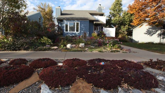 Warren Shoberg's front yard at 3316 E. 28th Street on Wed., Oct. 14, 2015.