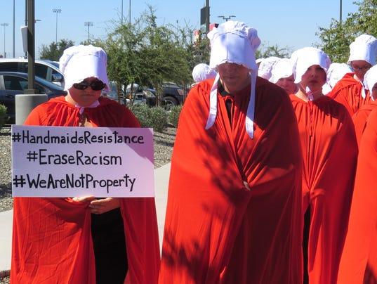 Handmaid protest