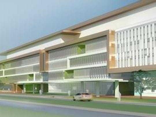 A rendering shows what the proposed new Veterans Affairs Medical Center would look like at 4906 Brownsboro Road in Louisville.