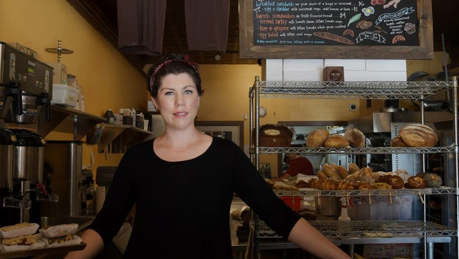 Alexis Kelleher is pictured at Crust Bakeshop on Main Street in 2017. She and Nate Rossi opened a second Crust location on Monday.