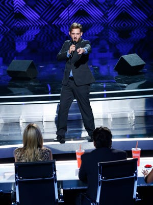 "Daniel Joyner performs on ""America's Got Talent."""