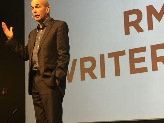 Author Don Winslow speaks as part of the Rancho Mirage
