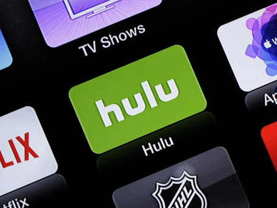 This June 24, 2015, file photo shows the Hulu Apple TV app icon in South Orange, N.J.