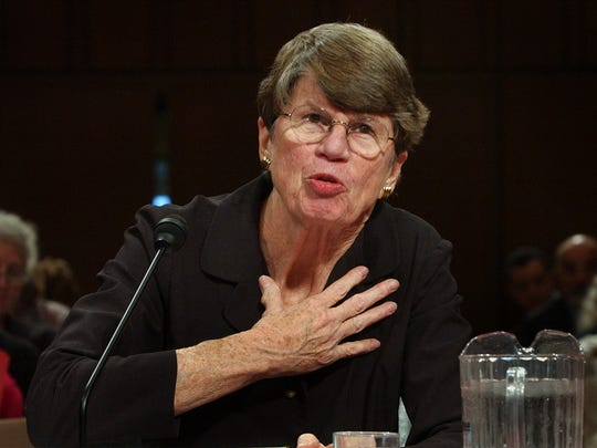 U.S. Attorney General Janet Reno testifies before the