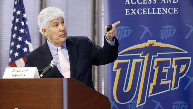 Texas Commissioner of Higher Education Raymund Paredes said it's likely that current elementary school students will not only change jobs but also will change careers three or four times during their lifetimes. He was the opening speaker at the 2016 Upper Rio Grande and West Texas Regional 60x30 Texas Workshop on Tuesday at the University of Texas at El Paso.