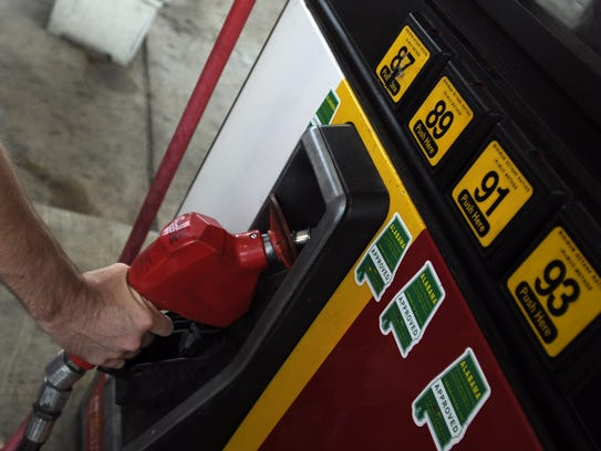 The price of gas in the Montgomery area is heading