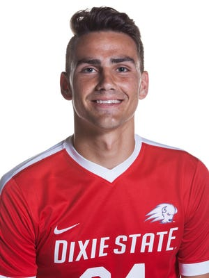Dixie State's Christian Hall was named the Pacific West Conference Freshman of the Week on Monday. Hall scored both of the Trailblazers' game-winning goals against Azusa Pacific and Point Loma this past wek, which helped propel DSU into a three-way tie for first place in the PacWest standings.