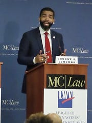 Chokwe Antar Lumumba participates in the Jackson mayoral