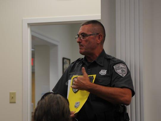 Dagsboro Police Chief Floyd Toomey gave a presentation