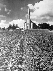 This 1943 Milwaukee Journal photo shows St. Anthony the Hermit Parish in 1943 while it was still a part of Fussville.