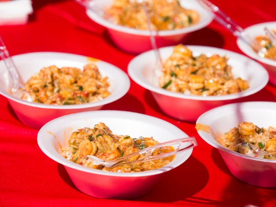 Crawfish etoufee is served during the 31st Annual World