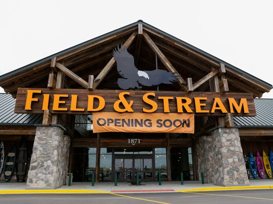 The facade of the Field and Stream store, to open April 1, at the Ambassador Town Center in Lafayette March 22, 2016.