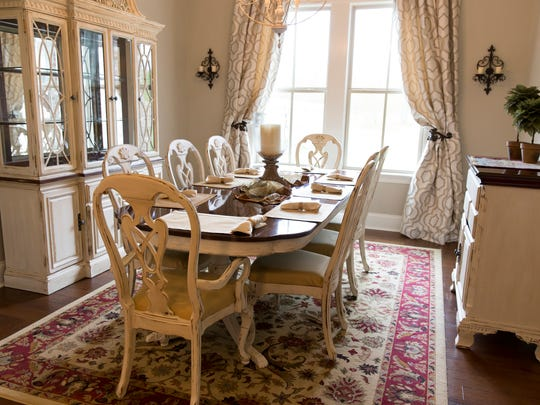 The dinning room of 329 Dunvegan Court in Stonehaven on the River, featured in the spring Parade of Homes  March 29, 2016.