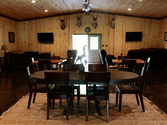 The dining area in the lodge at the Knobbhill Hunting Lodge in Ville Platte April 28, 2016.