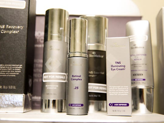 TNS skin products from the SkinMedica line. It claims