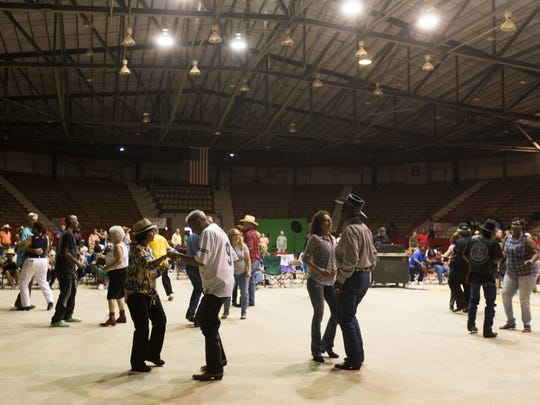 Dancers take to the floor during the 30th anniversary Zydeco Extravaganza at Blackham Coliseum May 29, 2016.
