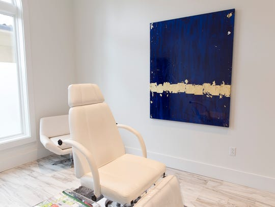 A treatment room at the Aesthetic Medicine & Anti-Aging