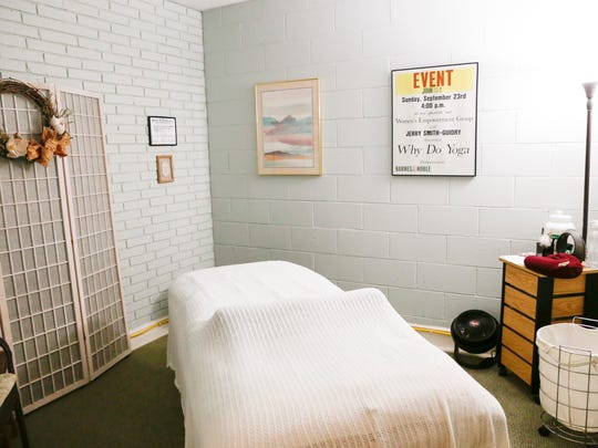 The massage room at Acadiana Yoga and Wellness in Lafayette