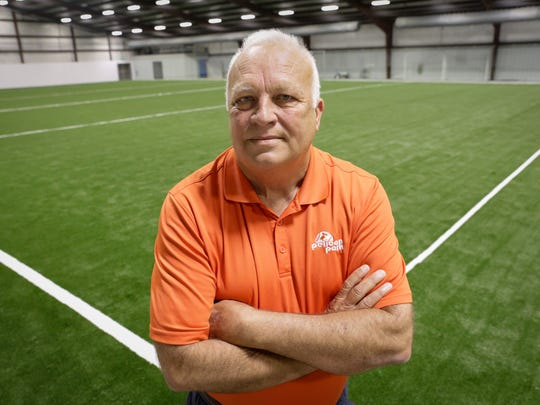 Park and Recreation director Jim Thibodeaux at the new indoor soccer field in the Carencro Sports complex July 29, 2016.
