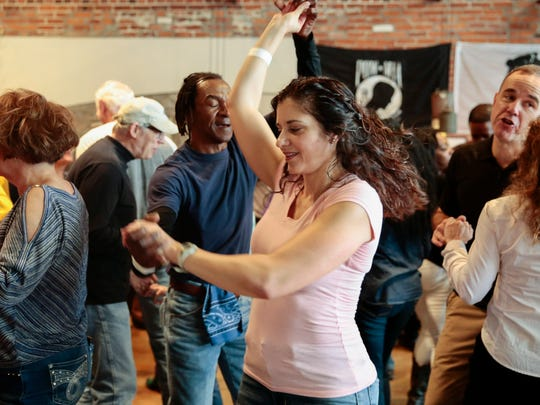 Dancers enjoy Leroy Thomas and the Zydeco RoadRunners during the Zydeco Breakfast at its new home, Buck & Johnny's, in Breaux Bridge Sat., Jan. 14, 2017.