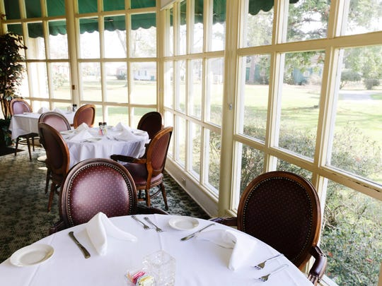 A dining room at Nash's Restaurant in Broussard Friday,