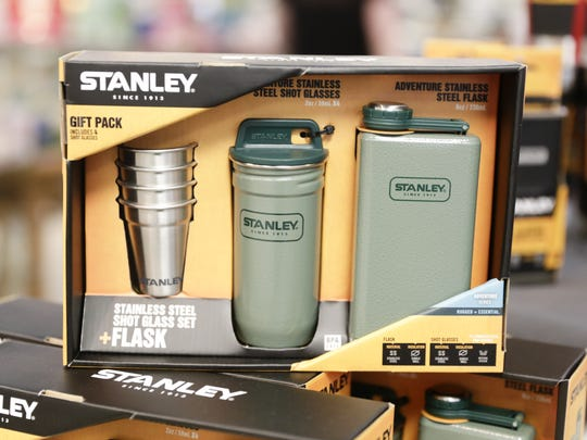 A Stanley flask set.